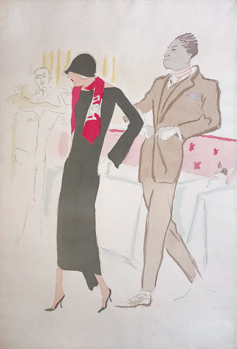 """Collection Image: Vertès """"Plate from """"Dancing - Lady with Red Scarf"""""""""""